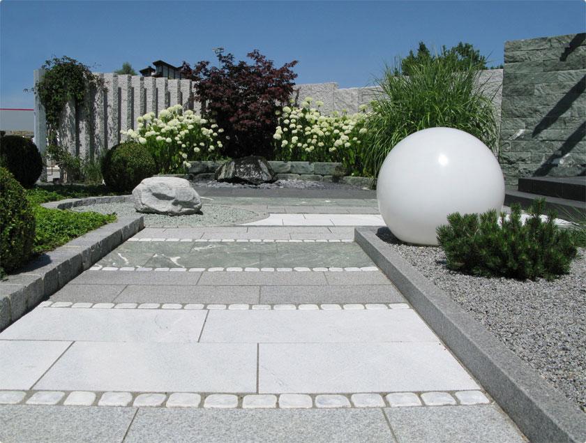 Fugensand Gartenweg gepflastert